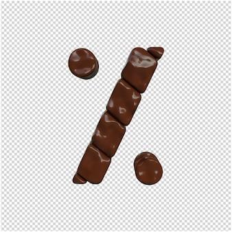 Schokoladensymbol 3d-rendering