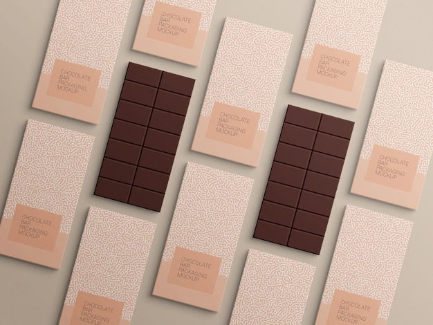 Schokoriegel-packpapier-verpackungsmodelldesign