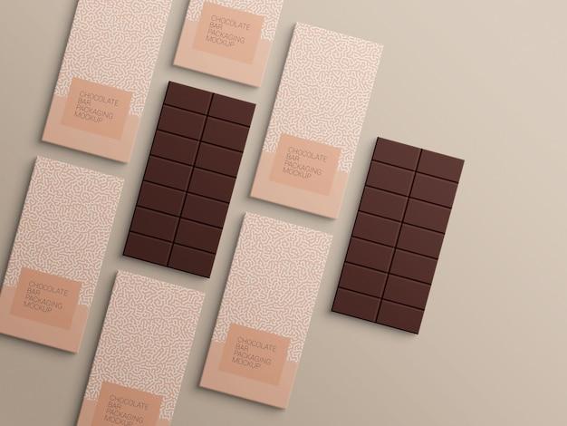 Schokoriegel-packpapier-verpackungsmodellentwurf