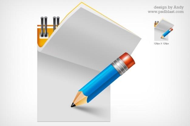Schreibblock icon psd