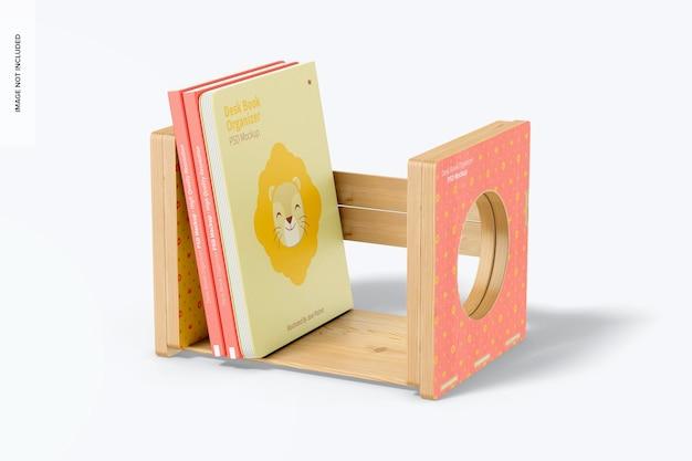 Schreibtischbuch organizer mockup