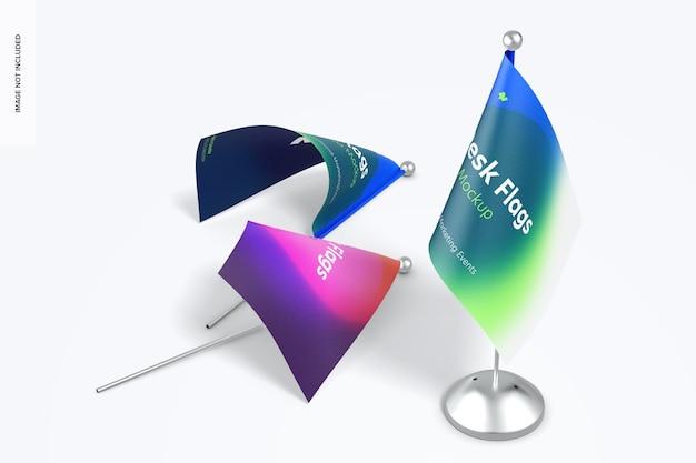 Schreibtischflaggen mockup