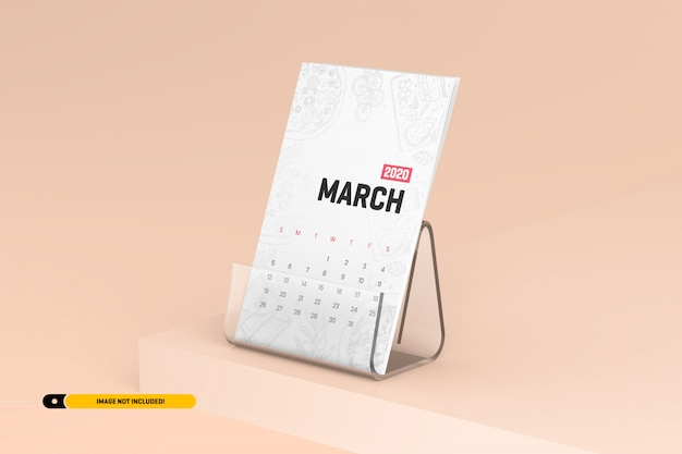 Schreibtischkalender mit standmodell
