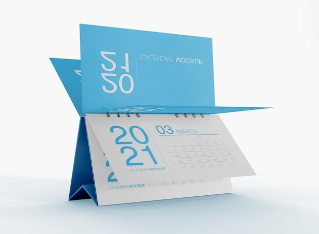Schreibtischkalender modell isoliert