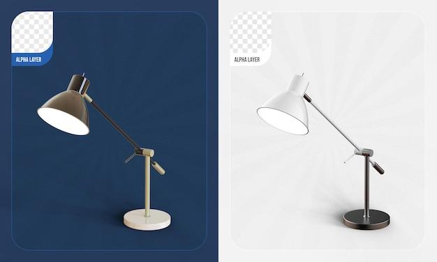 Schreibtischlampe 3d-rendering isoliert