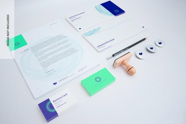 Schreibwaren-mockup-set