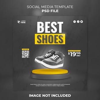 Schuhe social-media-post und instagram-post