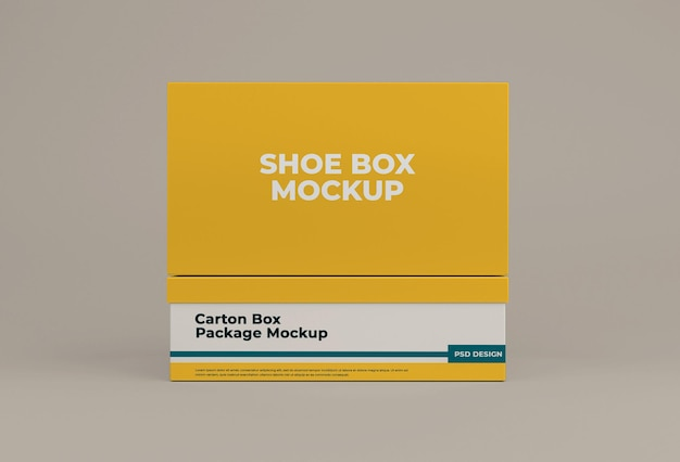 Schuhkartonmodell isoliertes design