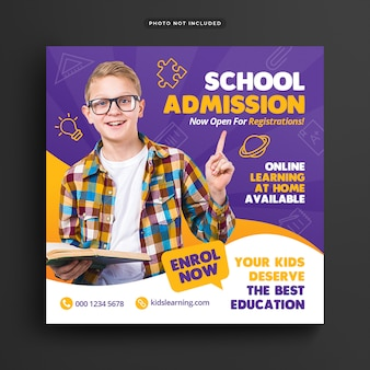 Schuleintritts-banner-vorlage