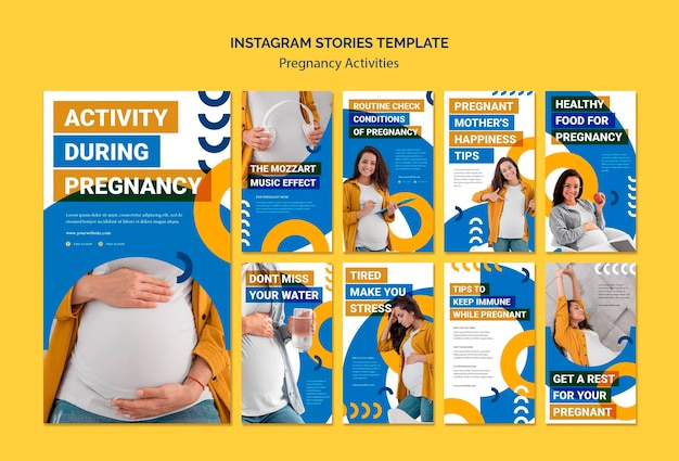 Schwangerschaftsaktivitäten instagram geschichten vorlage