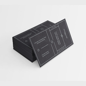 Schwarz visitenkarten-design