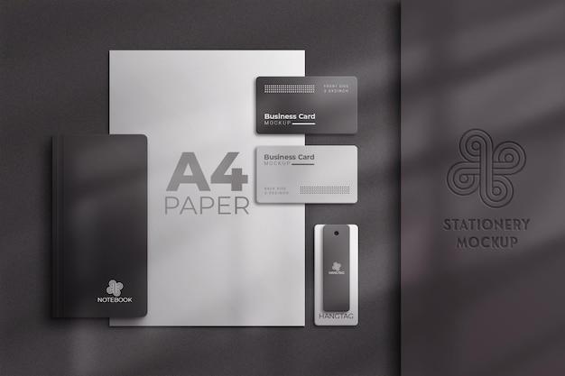 Schwarz-weiß-briefpapier-modell