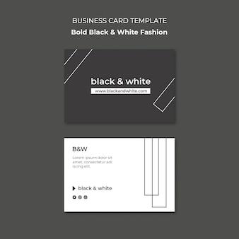 Schwarz-weiße visitenkarte