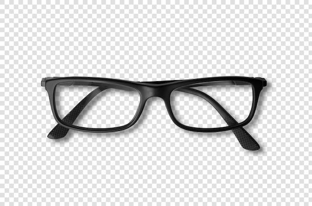 Schwarze brille isoliert