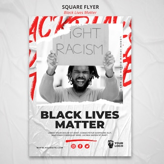 Schwarze leben materie poster vorlage