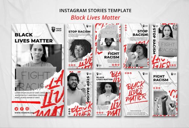 Schwarze leben sind wichtig für instagram-geschichten