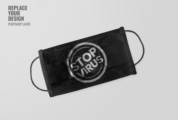 Schwarze maske stop-virus-modell