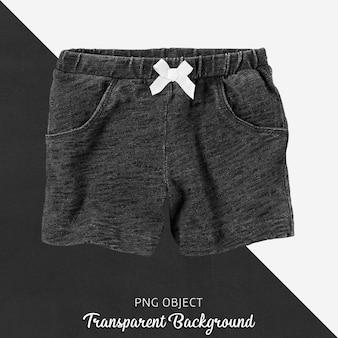 Schwarze short für baby oder kinder auf transparent