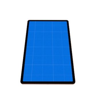 Schwarze tablette isoliert