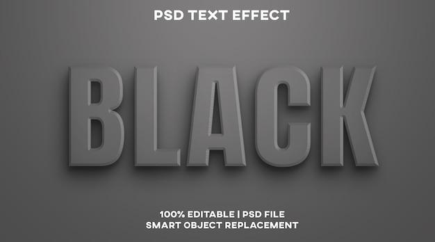 Schwarze texteffektstilvorlage