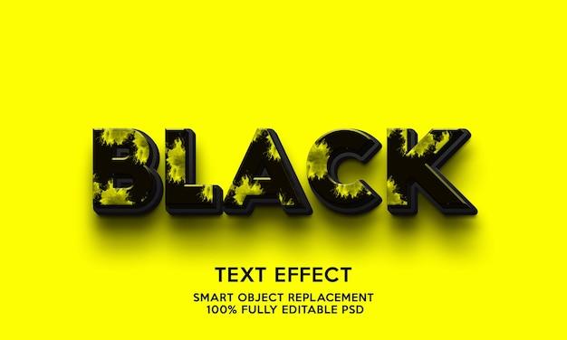 Schwarze texteffektvorlage