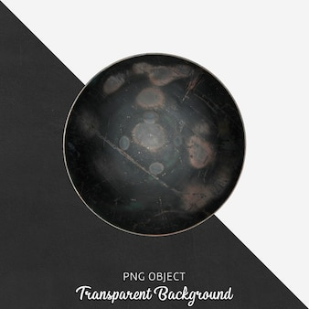 Schwarze umhüllungsplatte der weinlese auf transparentem