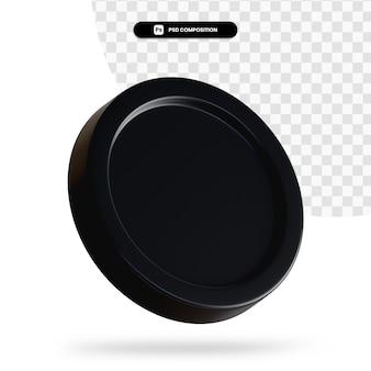 Schwarze wechselmünze 3d-rendering isoliert