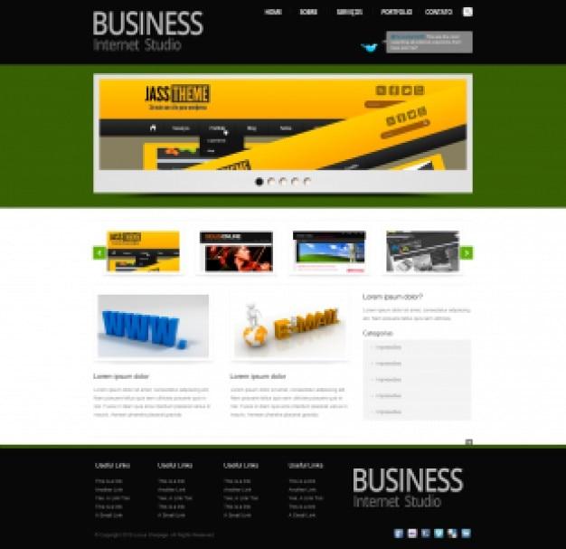 Schwarzen business-template psd