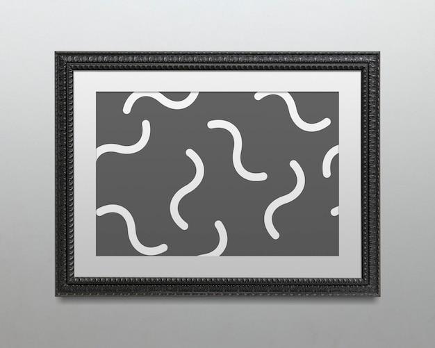 Schwarzer bilderrahmen mockup illustration