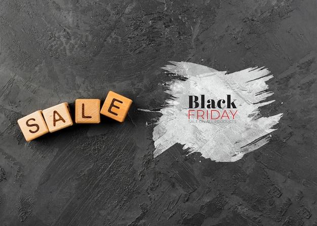 Schwarzer freitag-konzept mit schieferhintergrund