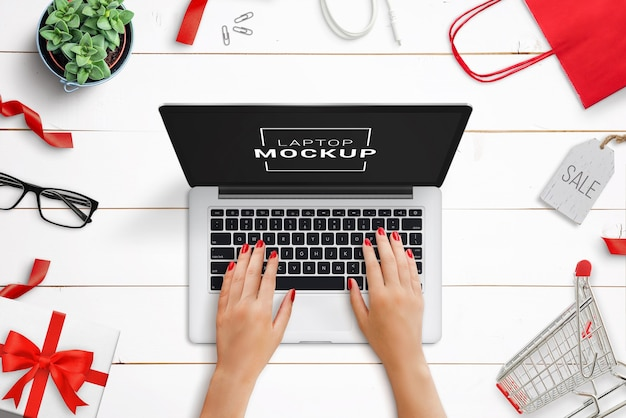Schwarzer freitag laptop modell szene schöpfer