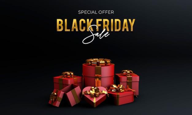 Schwarzer freitag verkauf mit geschenkbox
