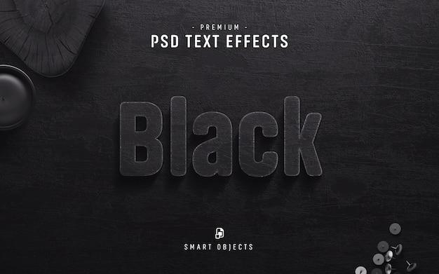 Schwarzer text-effekt
