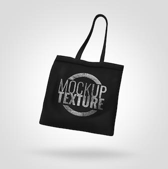 Schwarzes einkaufstaschenmodell