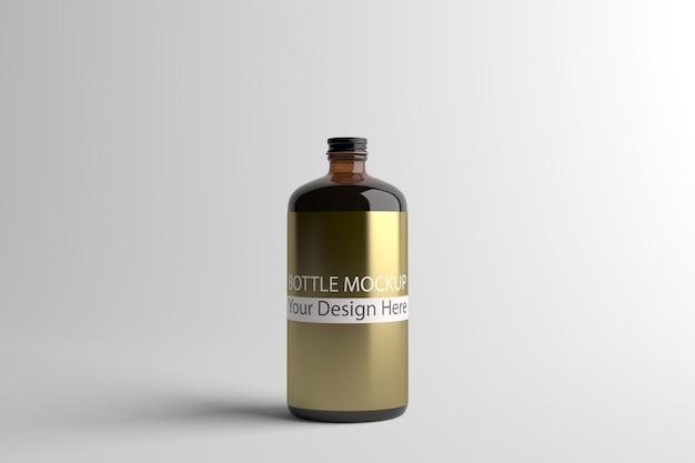 Schwarzes glasflaschenmodell