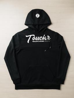 Schwarzes hoodie-sweatshirt-langarmmodell