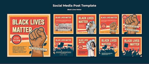 Schwarzes leben ist kein rassismus social media post