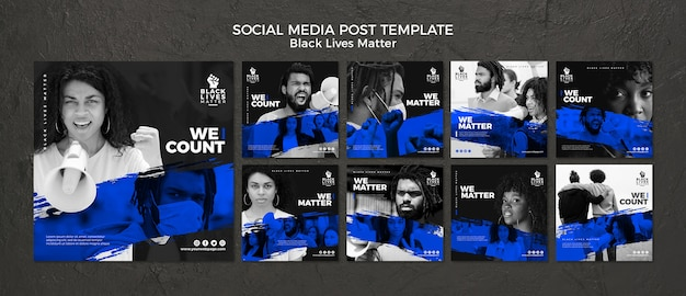 Schwarzes leben ist wichtig in sozialen medien