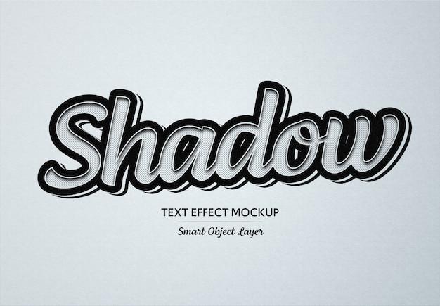Schwarzes team-text-effekt-modell