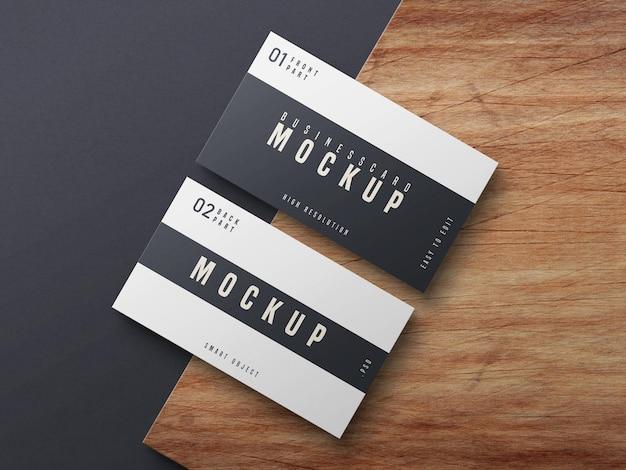 Schwarzweiss-visitenkarten-modellentwurf