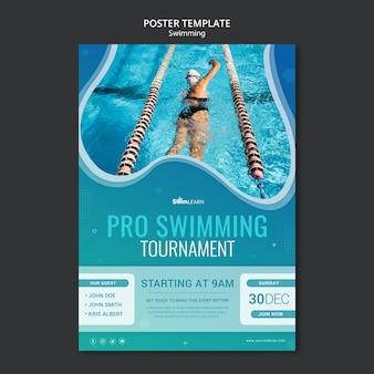 Schwimmende plakatschablone mit foto