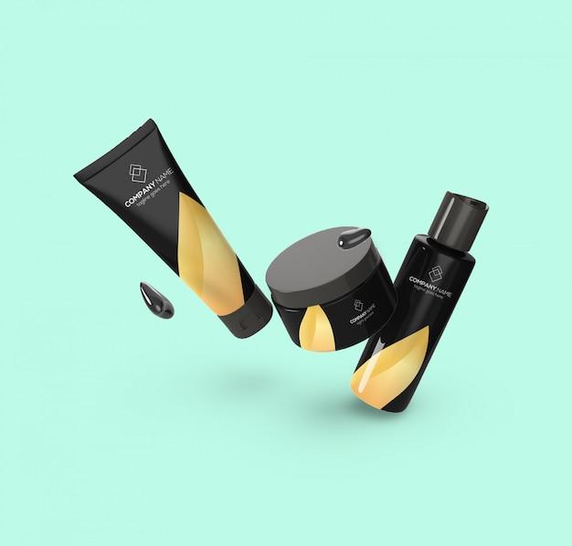 Schwimmendes modell für kosmetische produkte