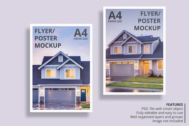 Schwimmendes papier- oder flyer-broschürenmodell-design