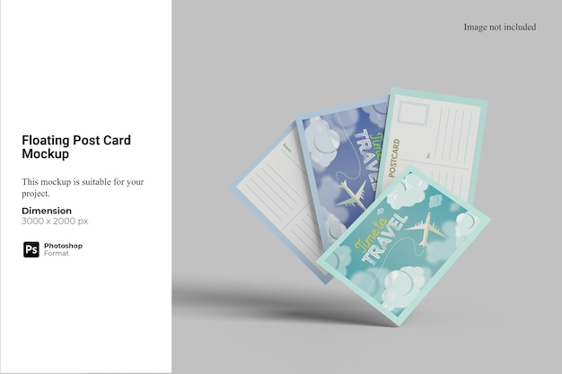 Schwimmendes postkartenmodell
