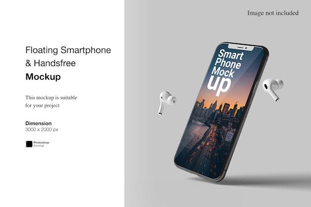 Schwimmendes smartphone-freisprechmodell