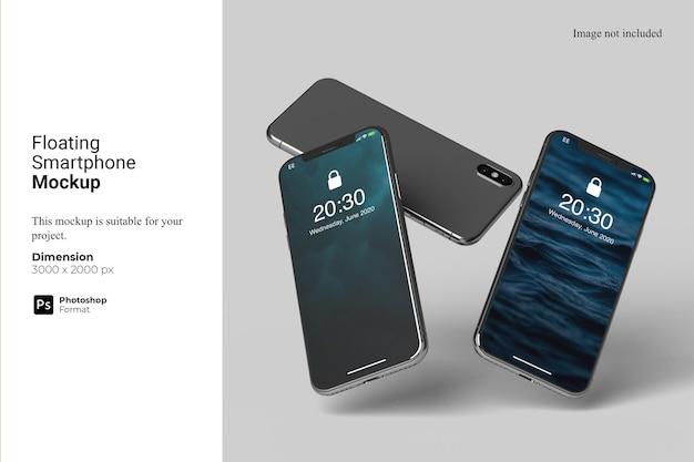 Schwimmendes smartphone-modell