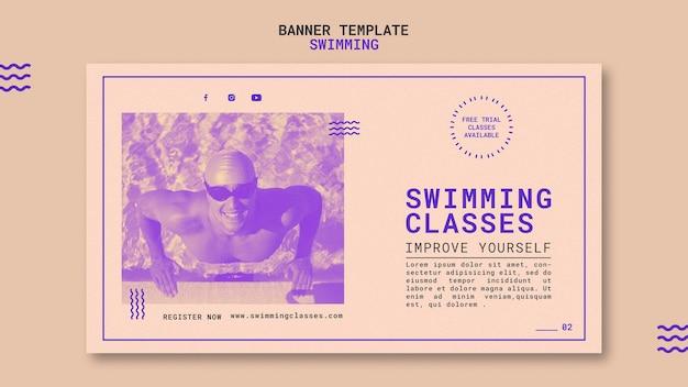 Schwimmklassen banner vorlage