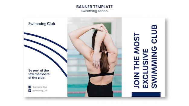 Schwimmschule banner vorlage