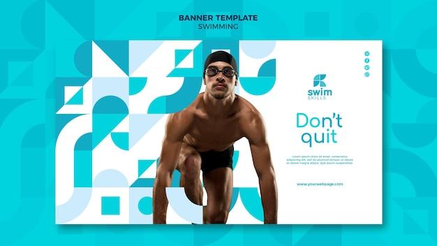 Schwimmunterricht banner vorlage