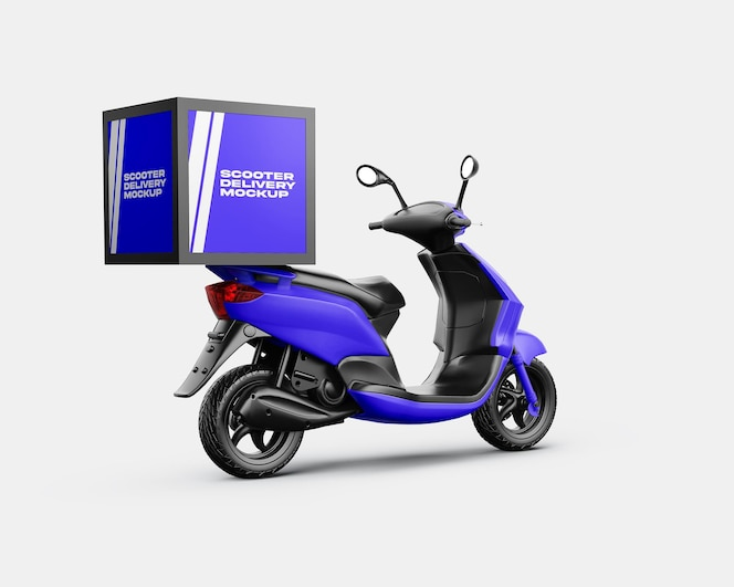 Scooter delivery mockup